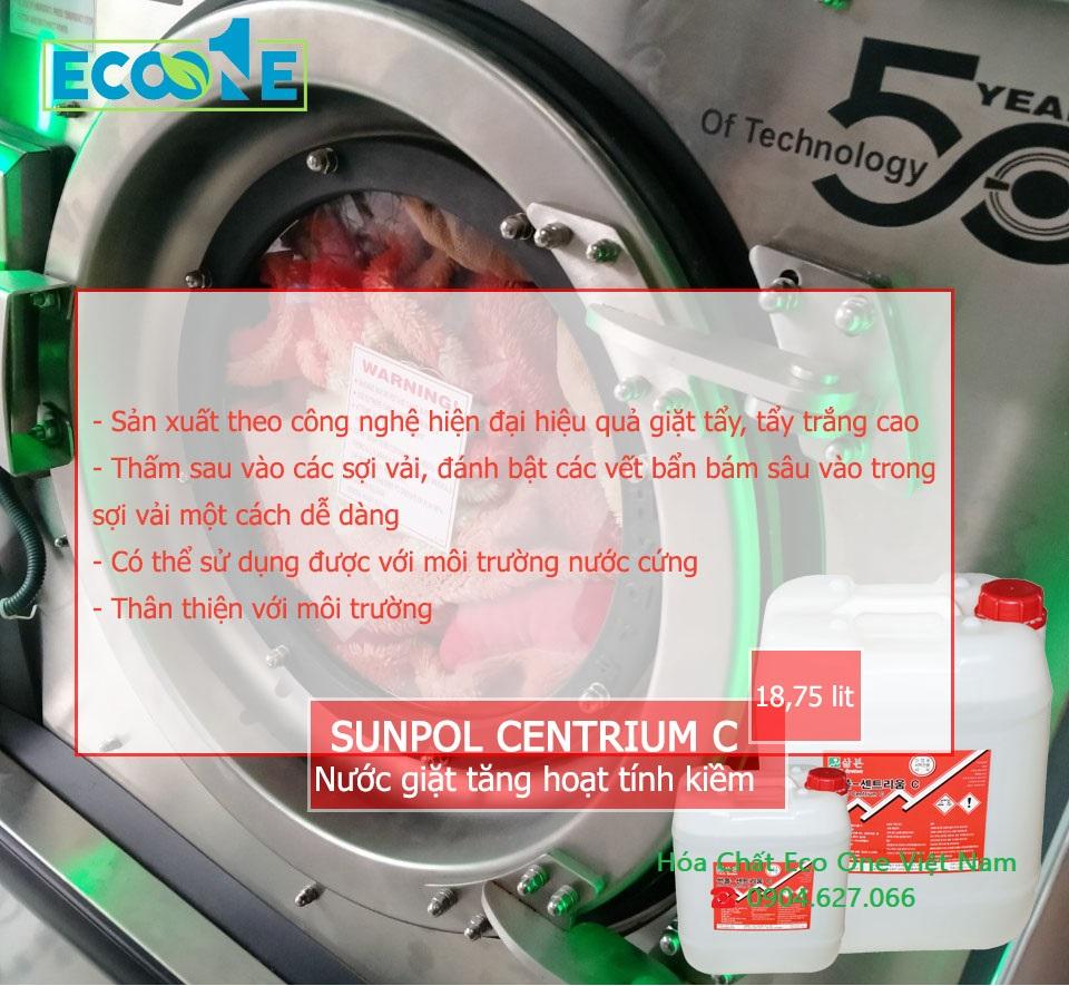 Nước giặt tăng hoạt tính kiềm Sunpol centrium C
