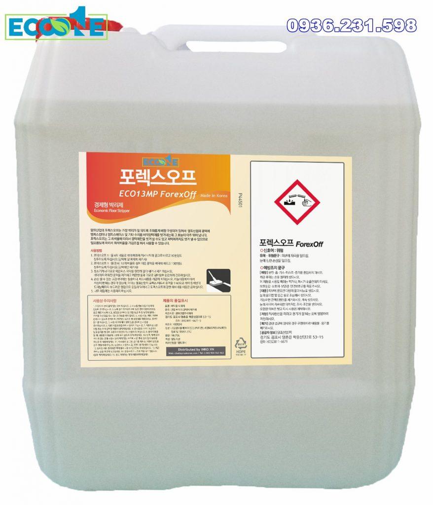 Hóa chất bóc sàn Eco Forex Off dung tích 18,75 lit