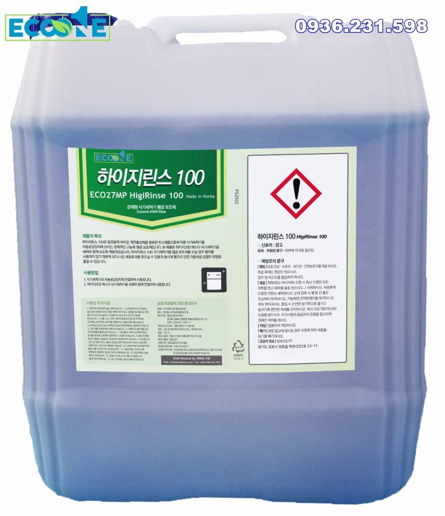 Nước tráng dùng trong máy rửa bát tự động Eco HigiRinse 100 dung tích 18,75 lit