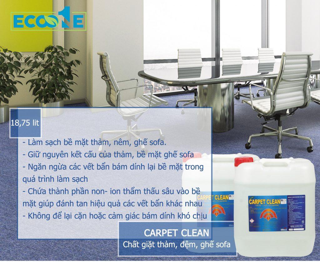 Hóa chất giặt thảm, nệm, ghế công nghiệp, ghế sofa - CARPET CLEAN