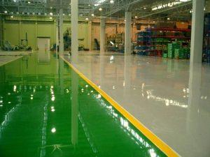 Phủ bóng sàn nhựa tại Samsung