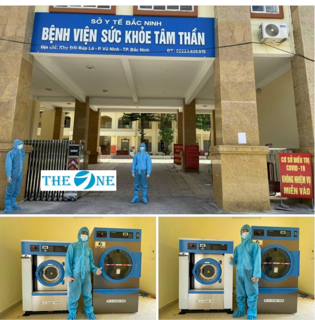 The One lắp đặt bộ máy giặt - sấy công nghiệp tại Bệnh viện sức khỏe tâm thần Bắc Ninh