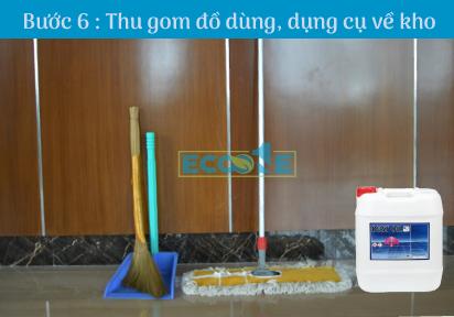 Bước 6: Thu gom đồ dùng, công cụ về kho